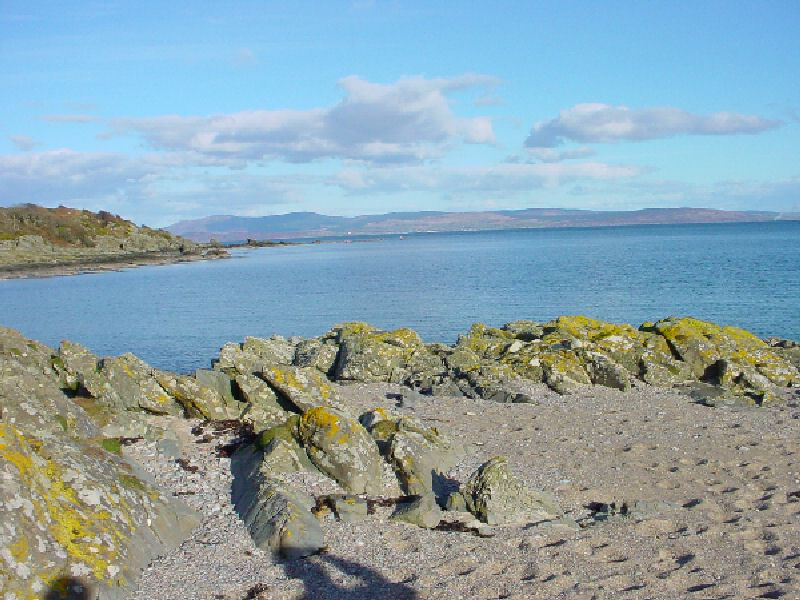 Arran from Rocks near Smerby, a name derived from Norse for